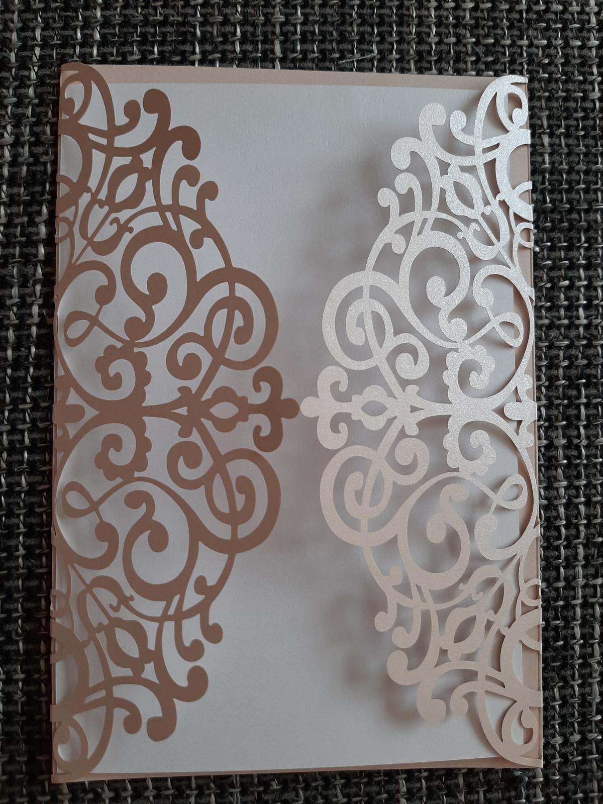 Krajkové obálky perleťové - Obrázek č. 1