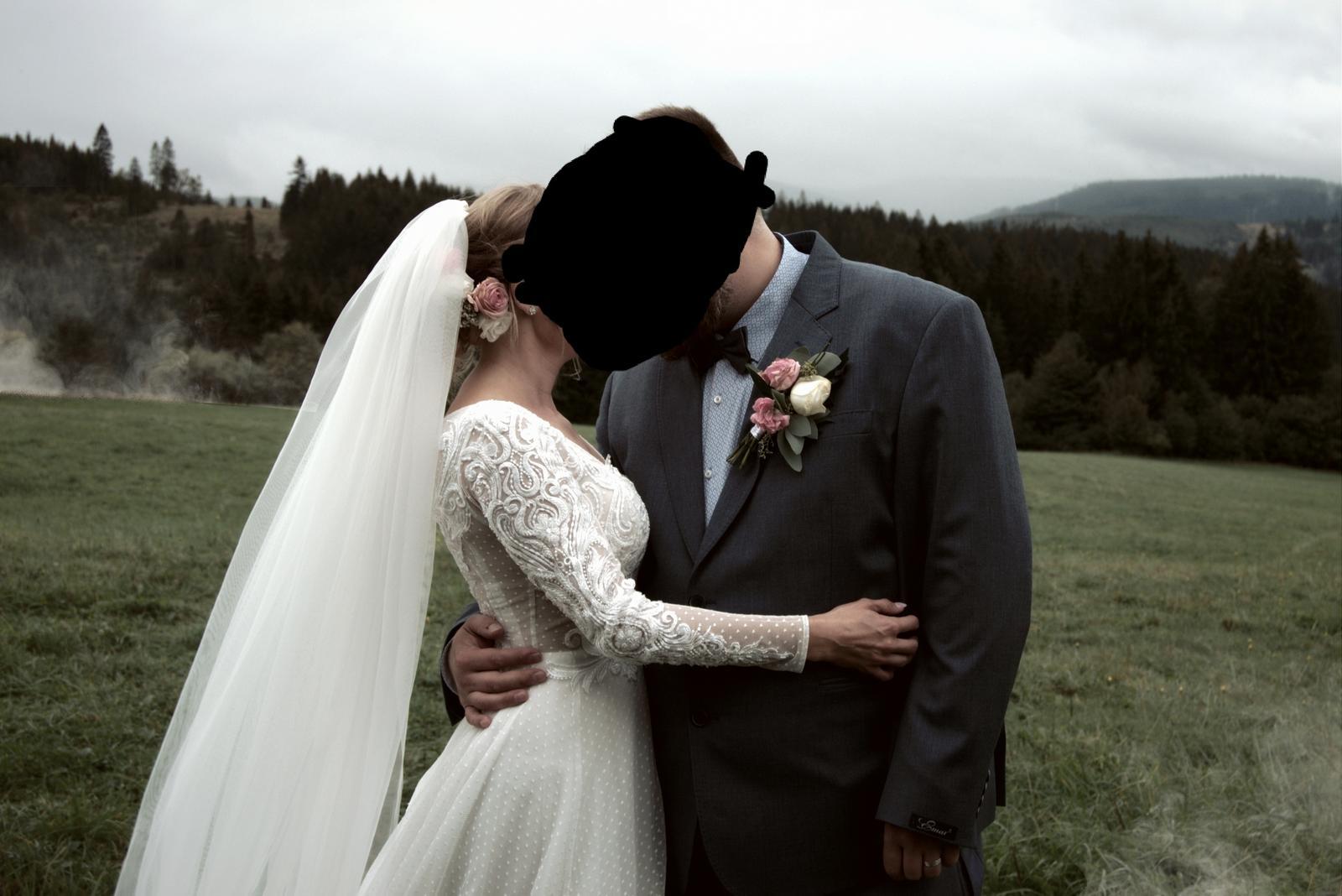 Svadobné šaty 34-38 - Obrázok č. 2