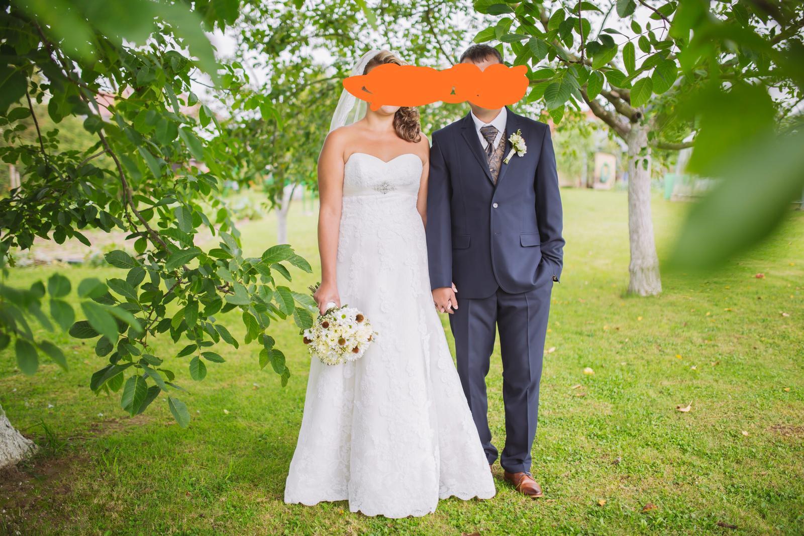Svadobné šaty 40-44 - Obrázok č. 2