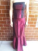 Vínovočervené spoločenské šaty, veľkosť S, 36