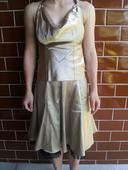 Zlaté šaty s holým chrbátom, 36