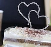 Srdiečka na tortu - nepoužité,