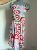 letní růžové šaty se vzorem, , M