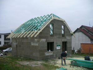 Listopad 2008 Jdeme na střechu.