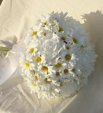 buď čisto margarétky alebo doplnené peknými bielymi kvetmi
