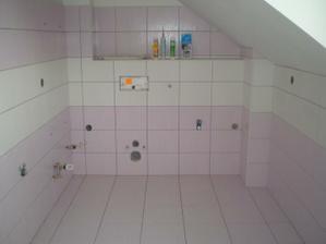 ještě nedokončená koupelna