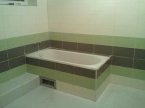 kúpeľňa obložená a vyšpárovaná