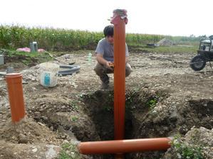 zemný register a kanalizácia