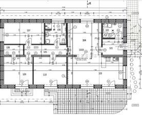 101-vstupná chodba, 2-technická+wc, 3-kuchyňa s obyvkou, 4-pracovňa a jedáleň, 5-chodba, 6-kúpelňa s wc, 7-izba starká, 8-šatník, 9-spálňa, 10-detská izba
