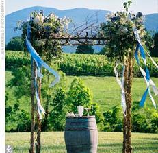 svatba na vinici, bezva nápad :)