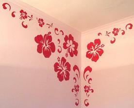 a podle vzoru bych asi vymalovala celou stenu, aby to vypadalo jako tapeta :o)