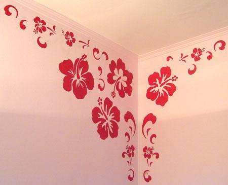 Tady je Rozincino - a podle vzoru bych asi vymalovala celou stenu, aby to vypadalo jako tapeta :o)