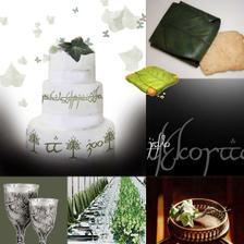 ...celý design laděný podle šatů - do zelenkava...