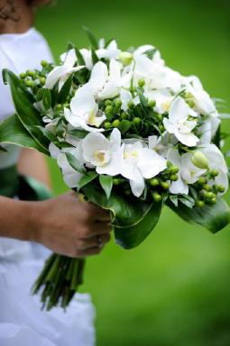 Nezbytné maličkosti :-) - Orchidej, květina naší svatby- do kytice, do vlasů, v dekoraci tabule.....:-)