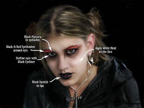 Goth wedding - svadobny makeup