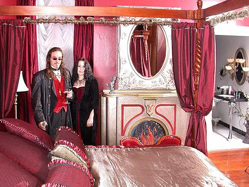 Goth wedding - svadobna postielka