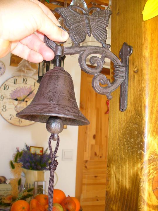Moje dekorky - moje radosti - zvonček bude na terase