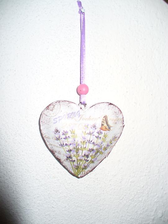 Moje dekorky - moje radosti - nové levandulové srdiečko