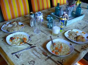 dnešný obed na terase