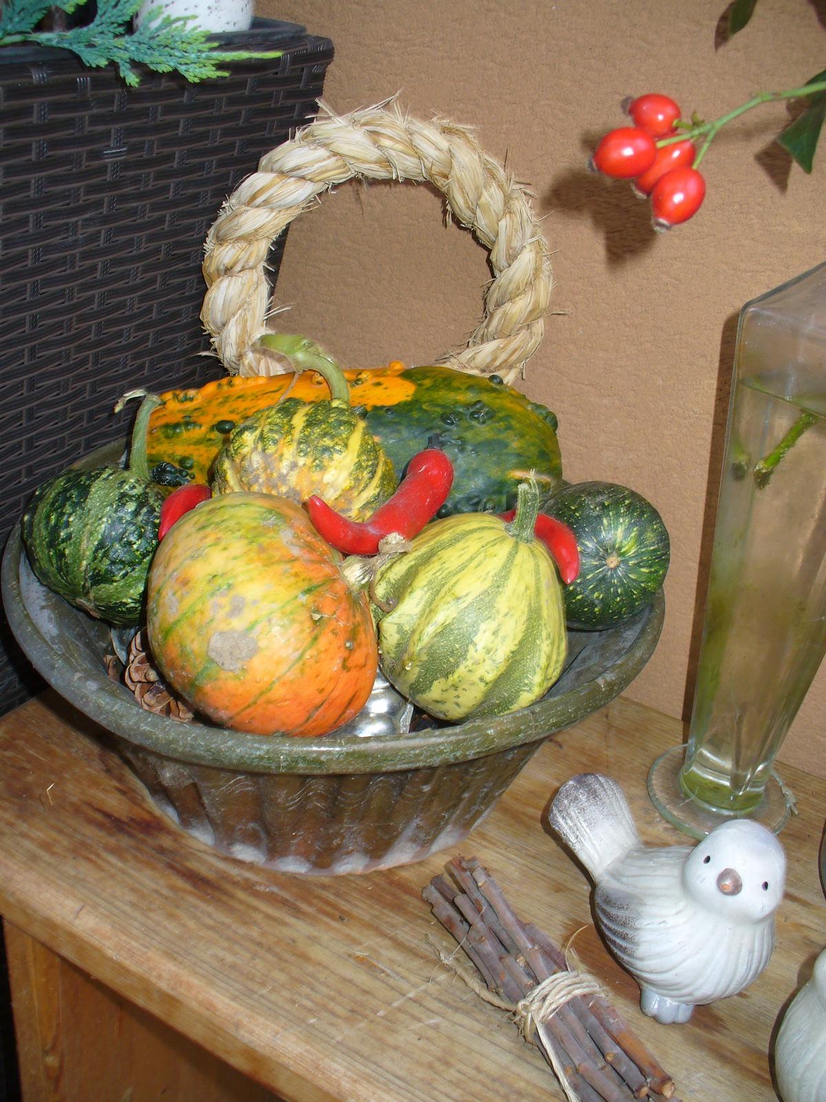 Prerábka, sadenie a úpravy v našej mini záhradke. - jesenná výzdoba