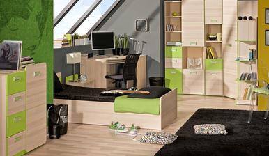 Inac, farba podlahy nadherne ladi z farbou detskej izby,cize uz mam vybratu aj podlahu do jednej detskej)))))