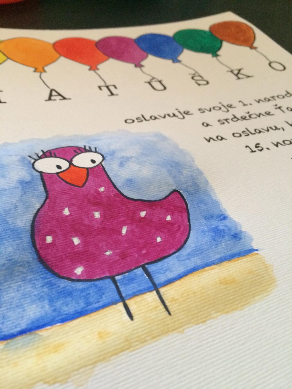 Moje radosti - Matúškova pozvánka na 1. narodeniny