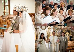 v kostole, zbor spieval nádherne, presne ako som si to vysnívala :)