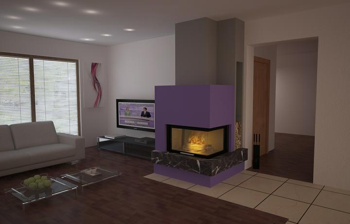 Náš dom (opal 71/70) - vizualizácia krbu v našej obývačke