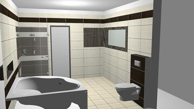 pod zrkadlom bude ešte hnedá skrinka a dve umývadlá :)