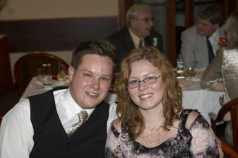 My dva na svatbě, zatím jako svatebčané :o)
