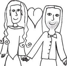 Tohle malovala moje Kristýnka - je to obrázek na svatební výslužku