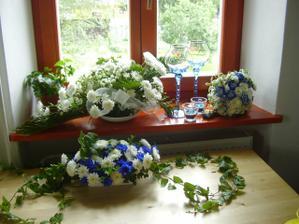Květinová výzdoba..