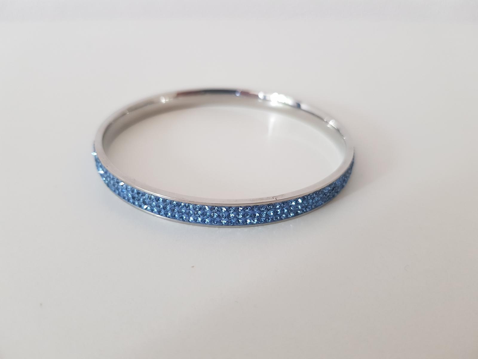 Swarovski modrý náramok - Obrázok č. 1
