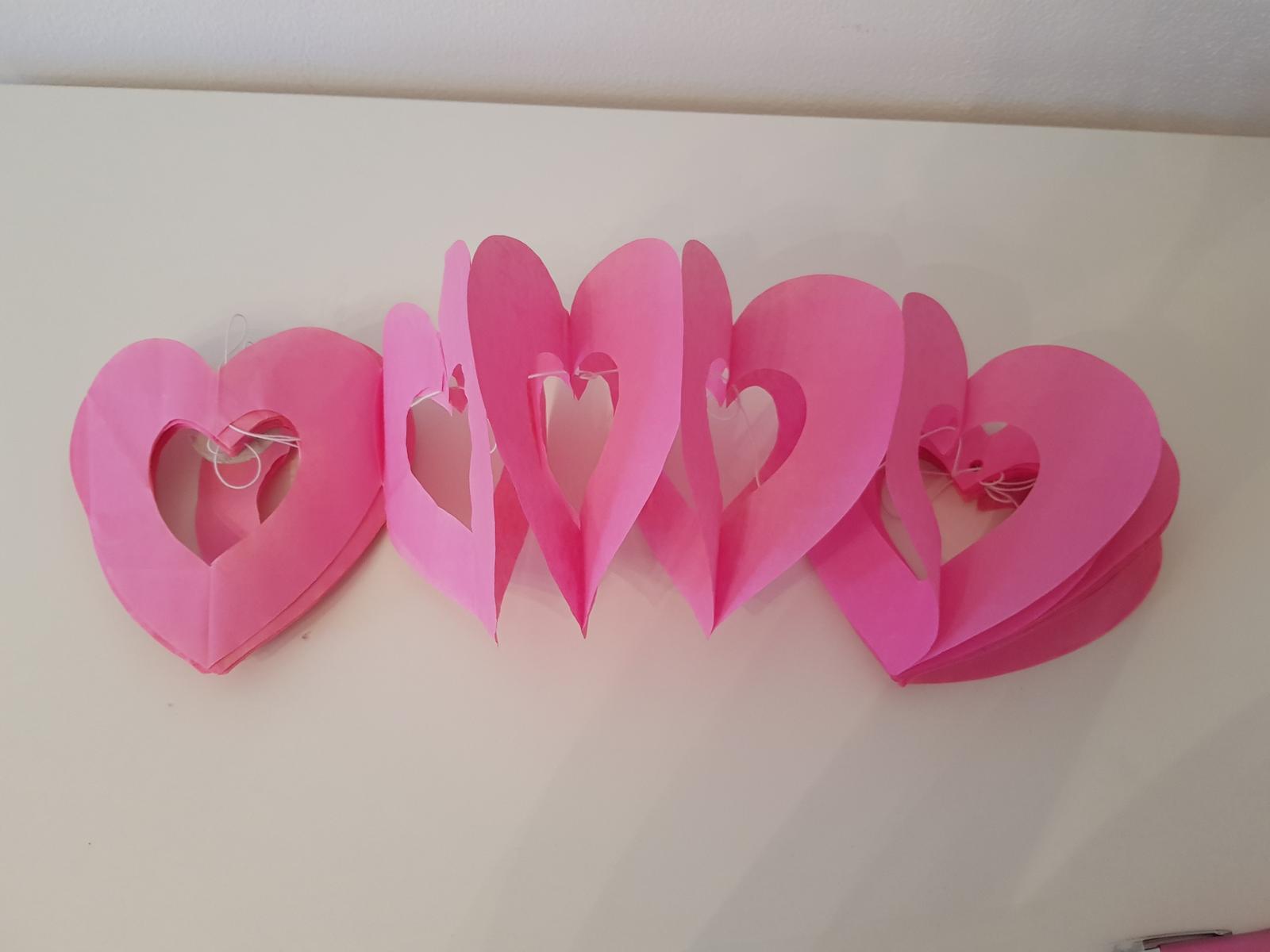 Girlanda srdce 3m - Obrázok č. 1