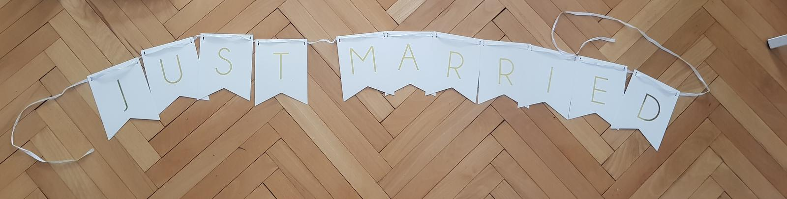 Girlanda Just Married - Obrázok č. 1