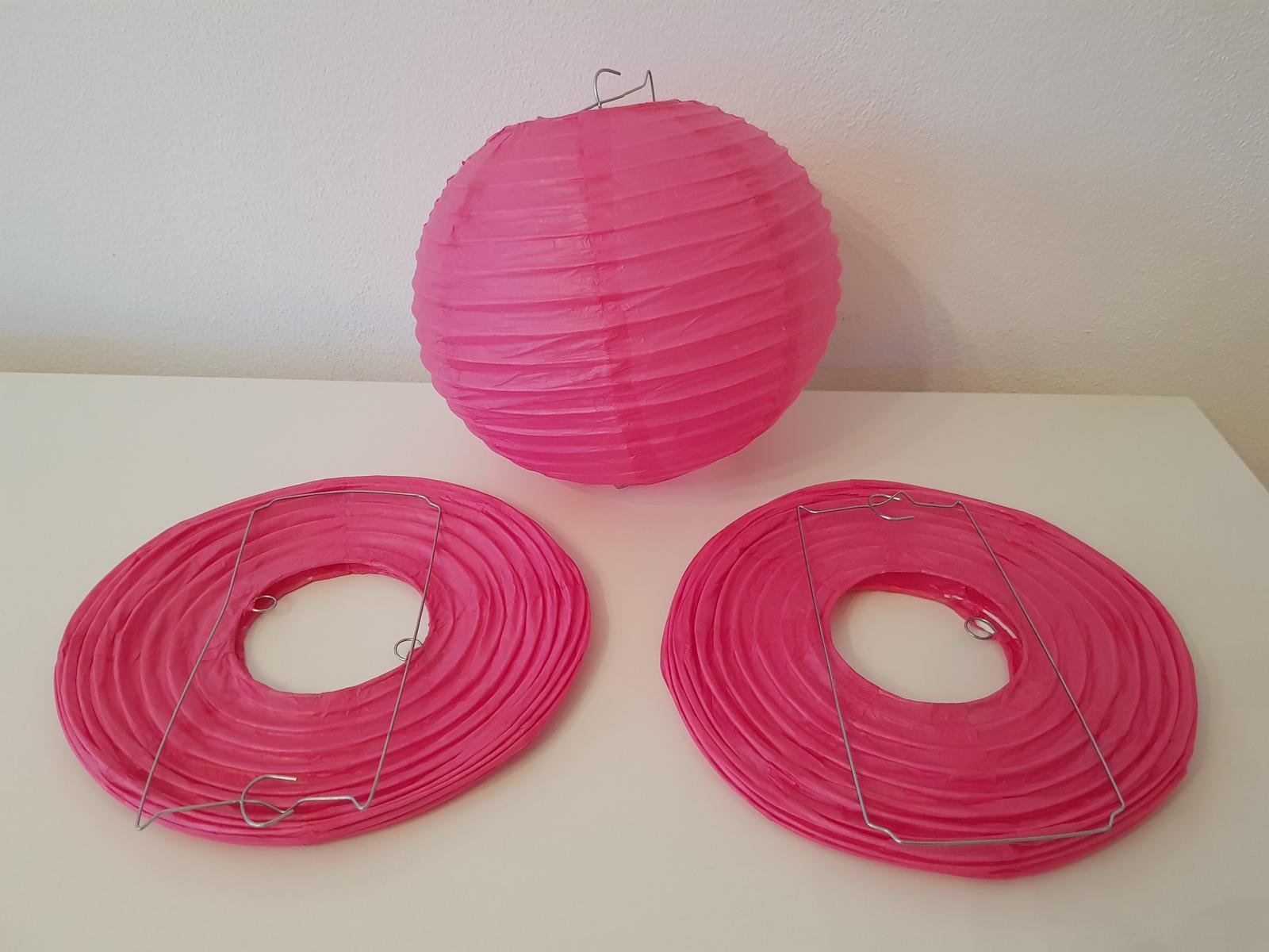 Ružový lampión - Obrázok č. 1
