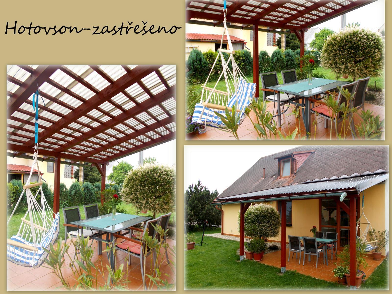 Pergola aneb velké přání,málo peněz :-) a nová střecha- za stejných podmínek :-) - Obrázek č. 12