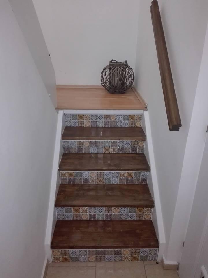Výzva 2018 schodiště - madlo natřeno