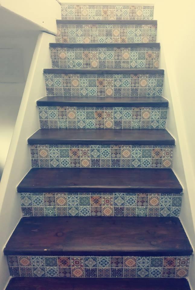 Výzva 2018 schodiště - sice to zdaleka není jako nové schody,ale v rámci možností jsem spokojená