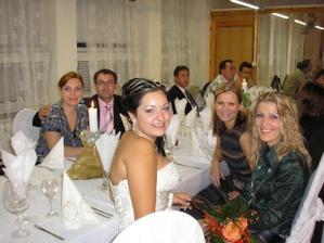 Moje kolegynky a v pozadí Palinovi kolegovia