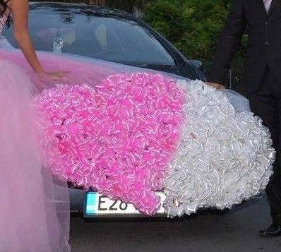 """""""prisnil sa mi sen,"""" - výzdoba na auto"""