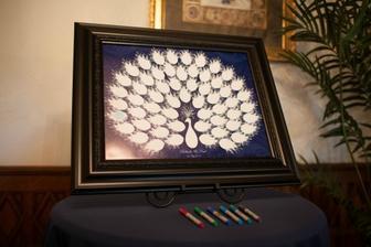 svadobný strom - páv