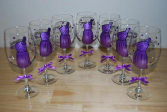 poháre pre družičky