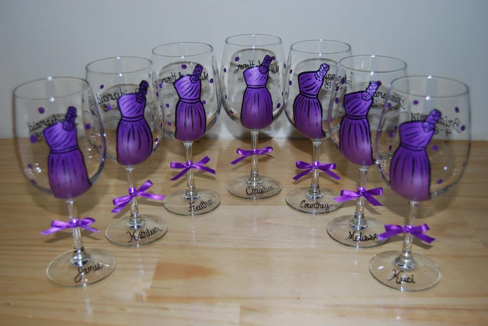 Inšpirácia-páv - poháre pre družičky