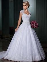 Svadobné šatičky - http://www.aliexpress.com/item/New-Custom-Made-Ivory-White-Satin-Tulle-Beadings-Appliques-Graceful-Cap-Sleeve-Wedding-Dress-Bridal-Gown/32241791969.html