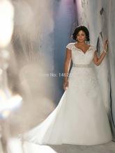 Svadobné šatičky - http://www.aliexpress.com/item/Cap-Sleeves-V-neck-Lace-Mermaid-Wedding-Dress-Plus-Size-Bridal-Gowns-2014-Hot-Sale/32239045694.html