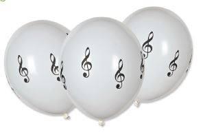 Svadba na hudobnú nôtu - balóny