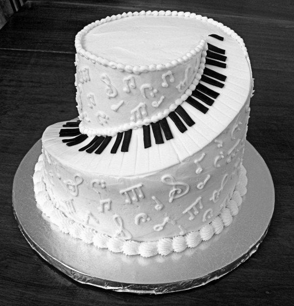 Svadba na hudobnú nôtu - torta