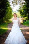 Svatební šaty vel. 36 + spodnička a závoj, 36