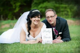 první vlaštovka. svatba byla velmi emotivní a vše vyšlo dle představ :-)